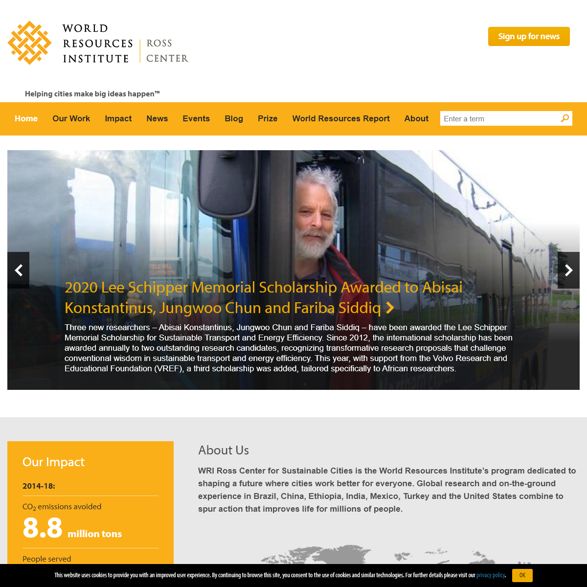 WRI Ross Center for Sustainable Cities I Helping cities make big ideas happen™