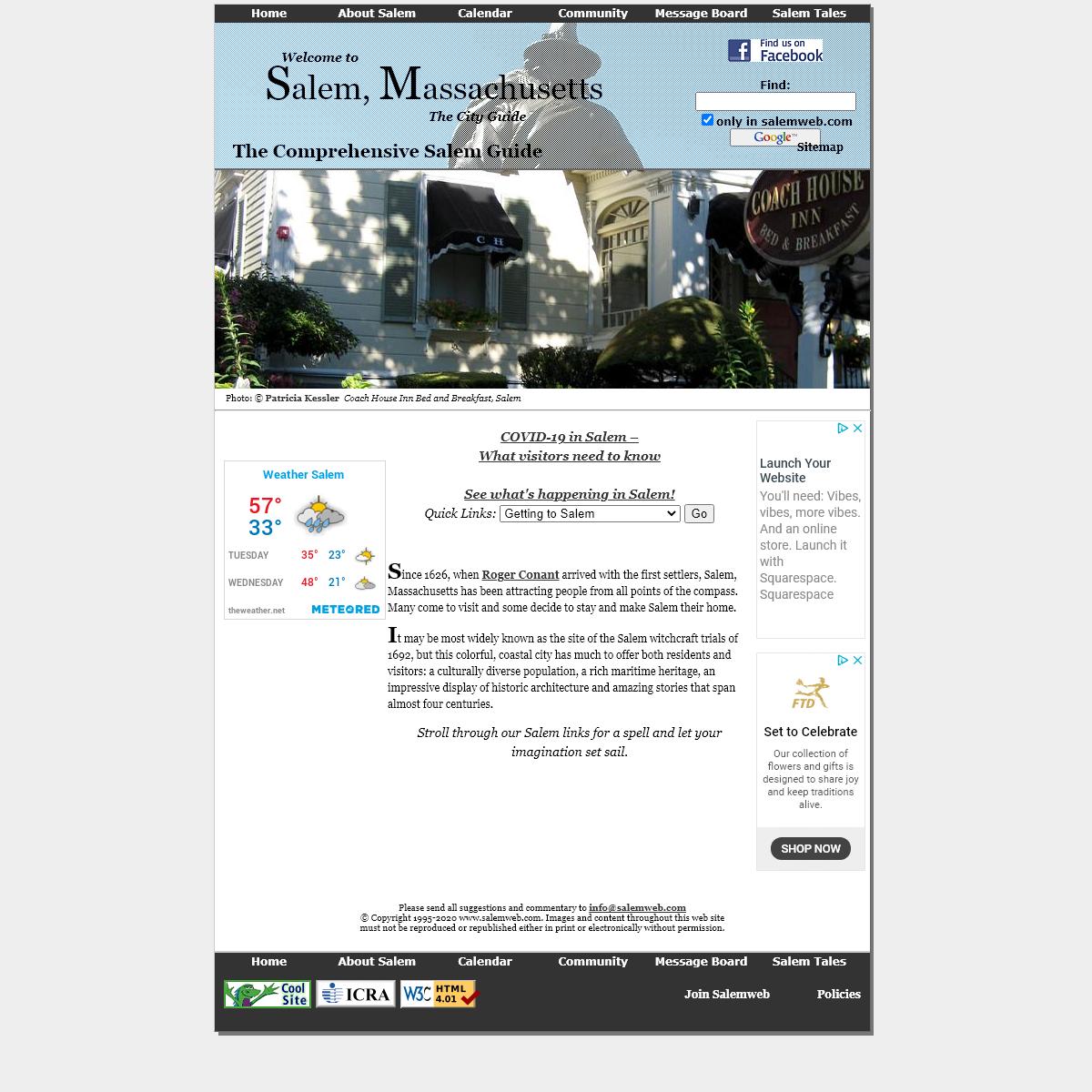 Salem Massachusetts - The Comprehensive Salem Guide