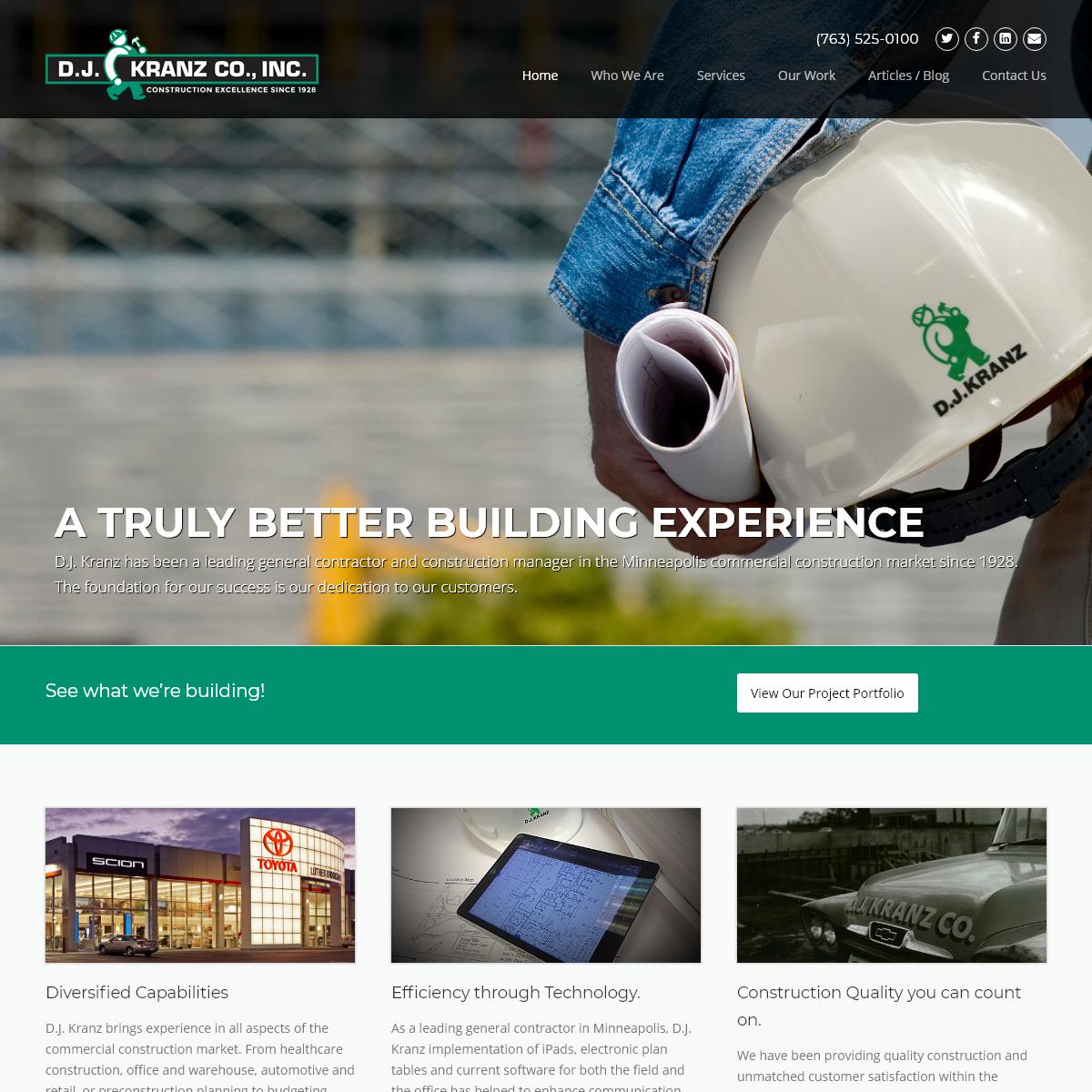 D.J. Kranz – General contractors and construction managers