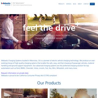 EV Solutions - Electric Vehicle Charging Products & Services