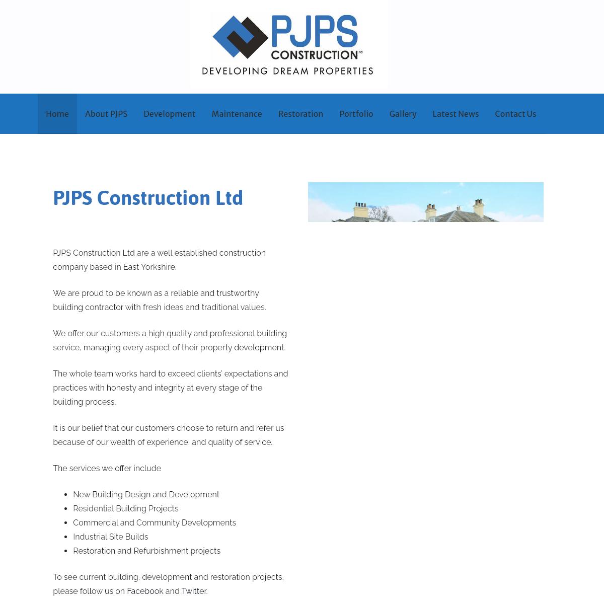 PJPS Construction Ltd – Construction in Beverley, Hull, East Yorkshire
