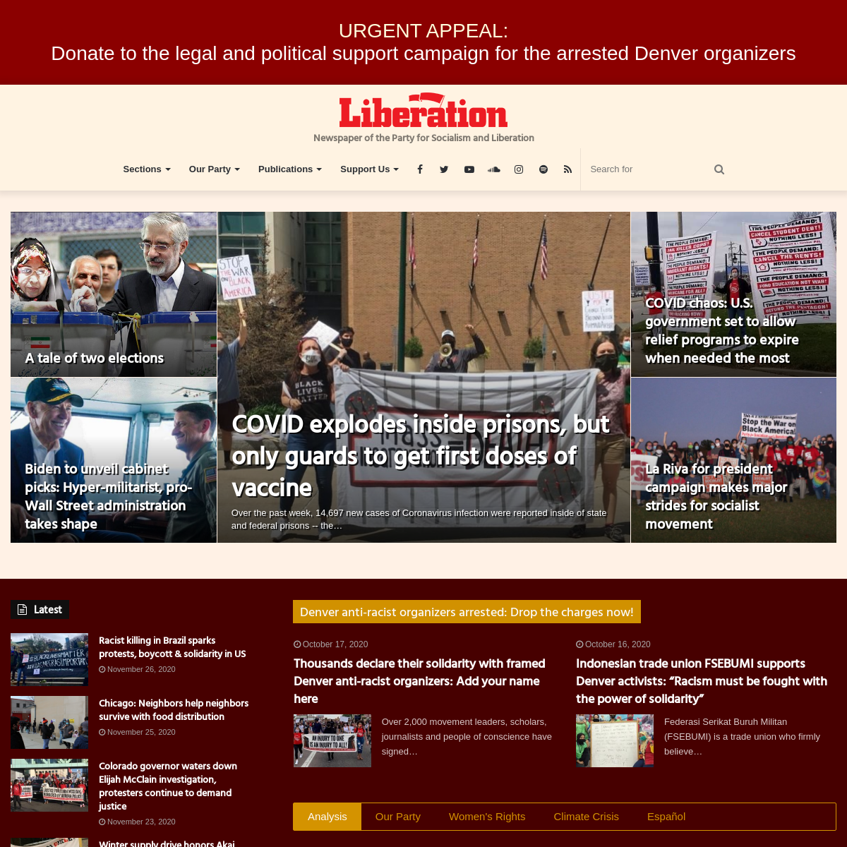 Liberation News – The Newspaper of the Party for Socialism and Liberation