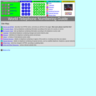 World Telephone Numbering Guide