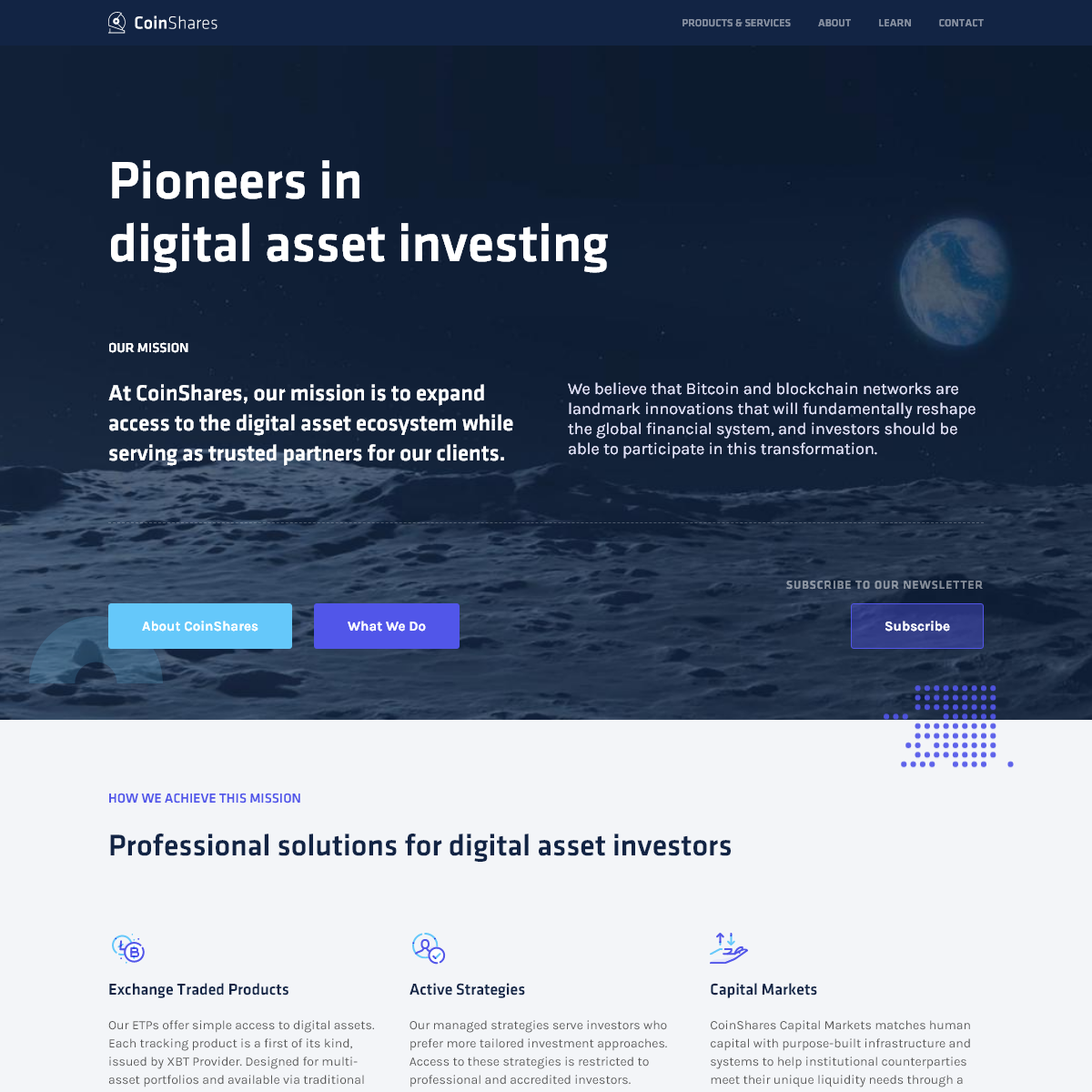 CoinShares - Digital Asset Investment Strategies for Professionals 🚀