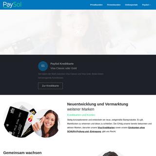 PaySol Payment Solutions - Kreditkarte und Girokonto für jeden