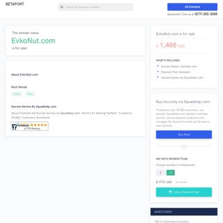 EvkoNut.com is for sale