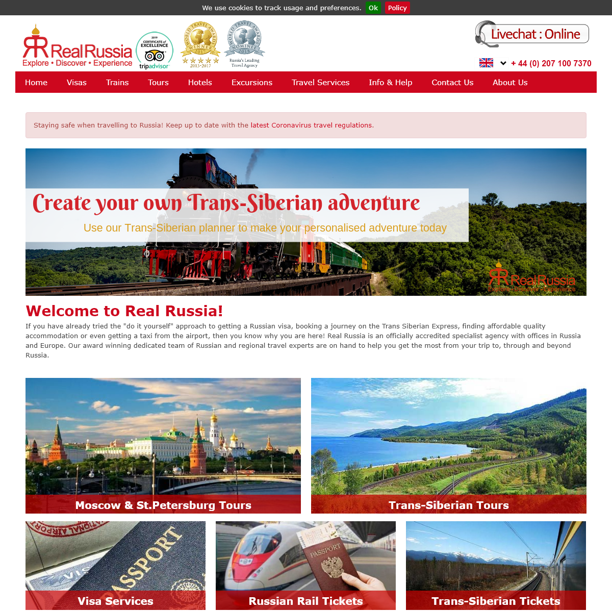 Russia travel experts - Holidays - Visas - Train tickets - Real Russia