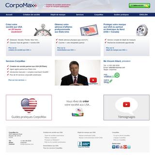 Creation de societe aux USA - depot de marque aux États-Unis - CorpoMax