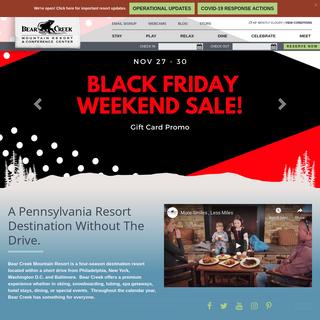 Bear Creek Resort- Hotel Spa Ski Tubing Wedding & Conference Escape