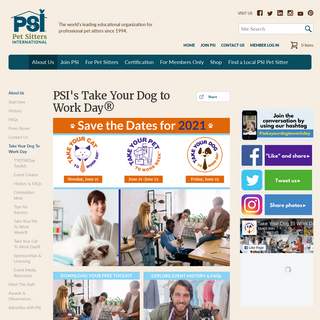 Take Your Dog To Work Day - Pet Sitters International
