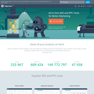 Topvisor — All-in-One SEO and PPC Tools