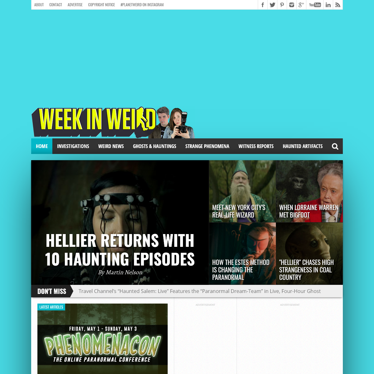 Week in Weird- Paranormal News, Reviews, and Adventures in the Unexplained