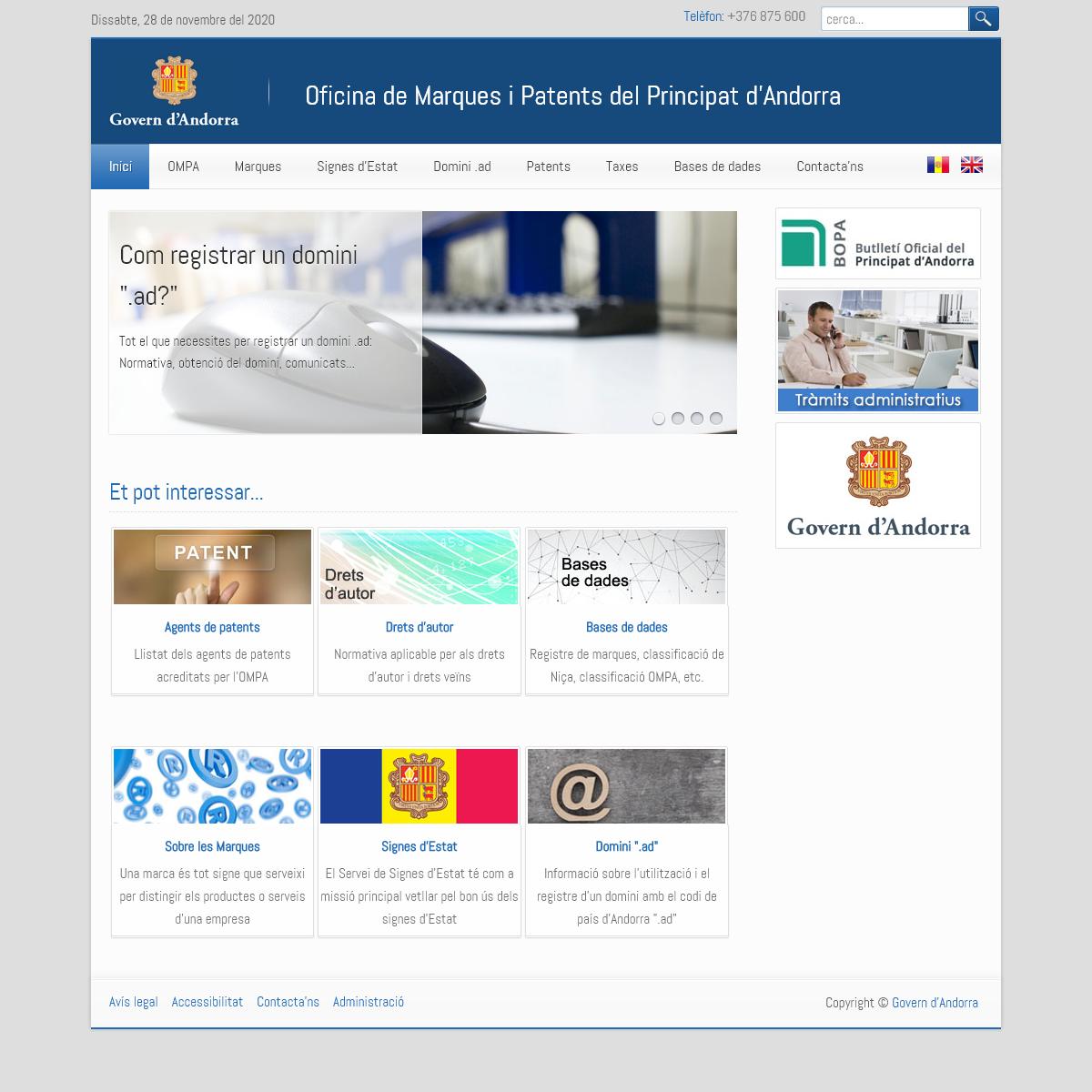 OMPA - Oficina de Marques i Patents del Principat d`Andorra