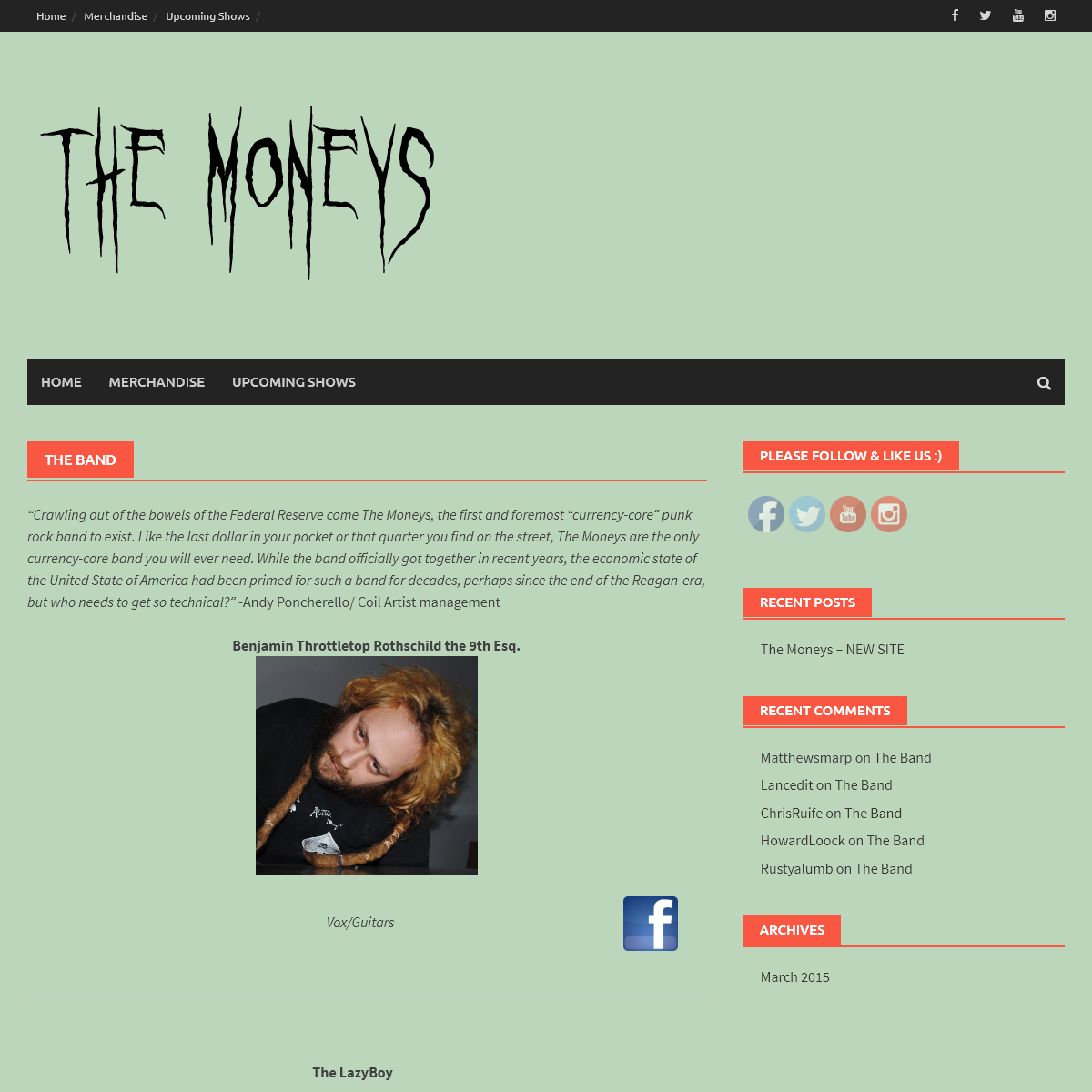 The Moneys - The Official site