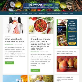 Nutrition Action - Unbiased advice to help you eat healthfully and live longer