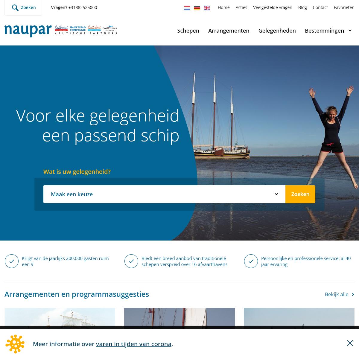 NAUPAR I Grootste aanbod traditionele zeilschepen in Nederland - NAUPAR