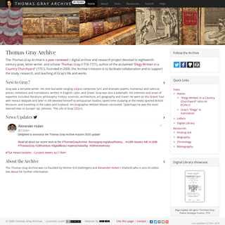 Thomas Gray Archive - Home