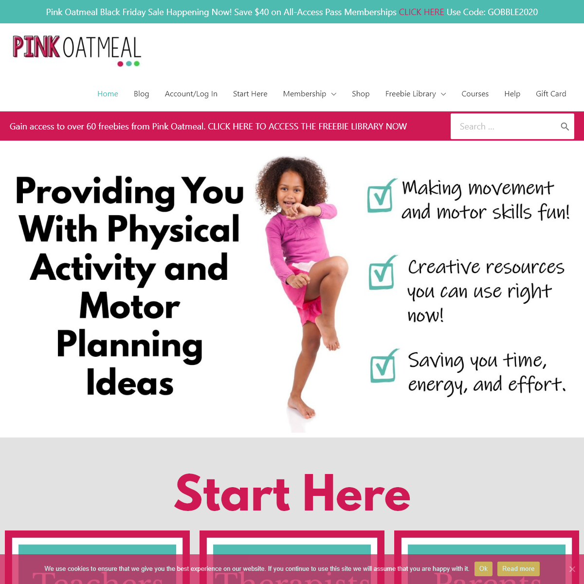 Movement Breaks For Kids - Pink Oatmeal