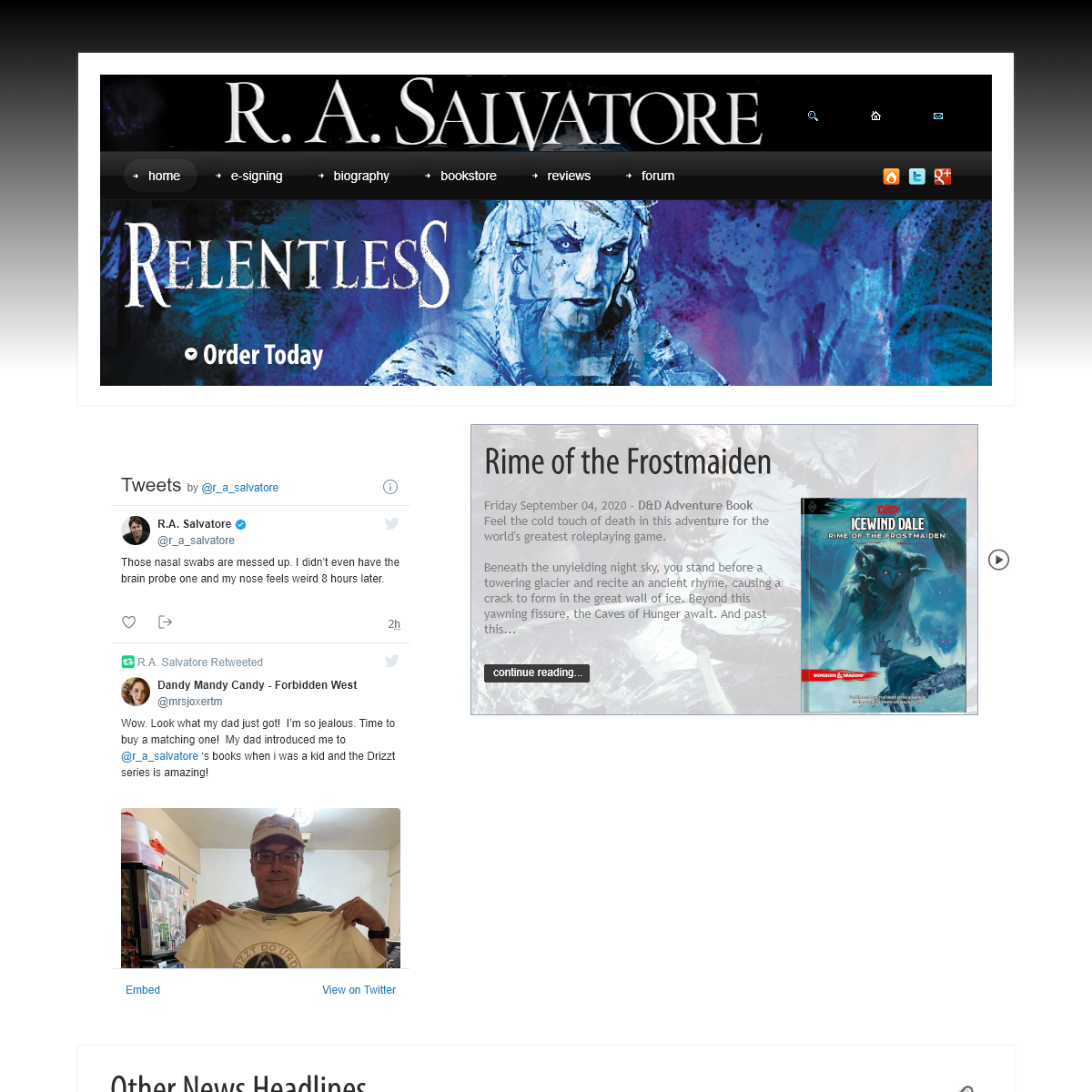 N.Y. Times Bestselling Author R. A. Salvatore