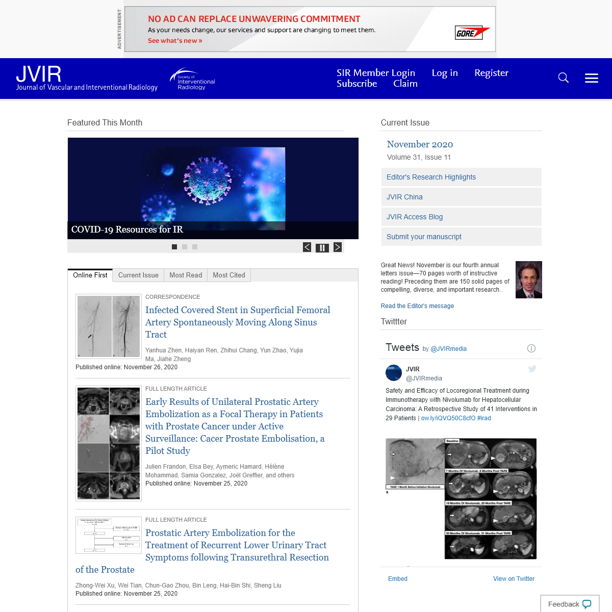 Home Page- Journal of Vascular and Interventional Radiology