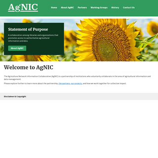 Welcome to AgNIC - Agriculture Network Information Collaborative