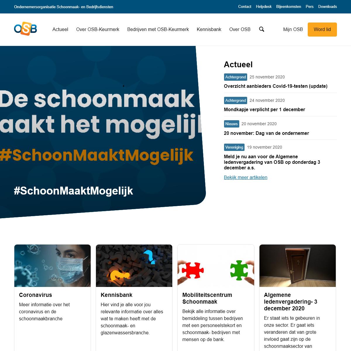 Home - Ondernemersorganisatie Schoonmaak- en Bedrijfsdiensten (OSB)