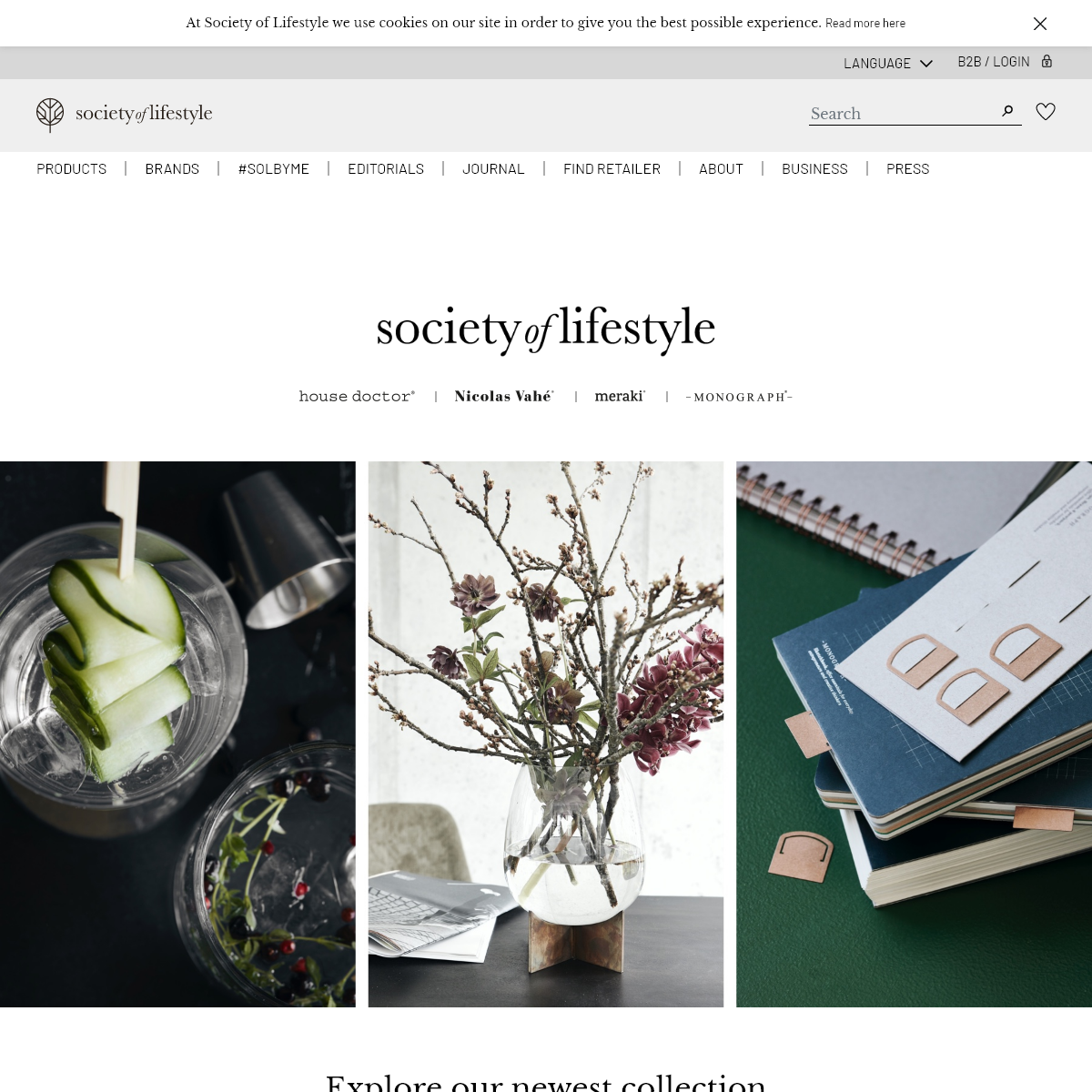 Society of Lifestyle - House Doctor®, Nicolas Vahé®, Meraki®, Monograph®