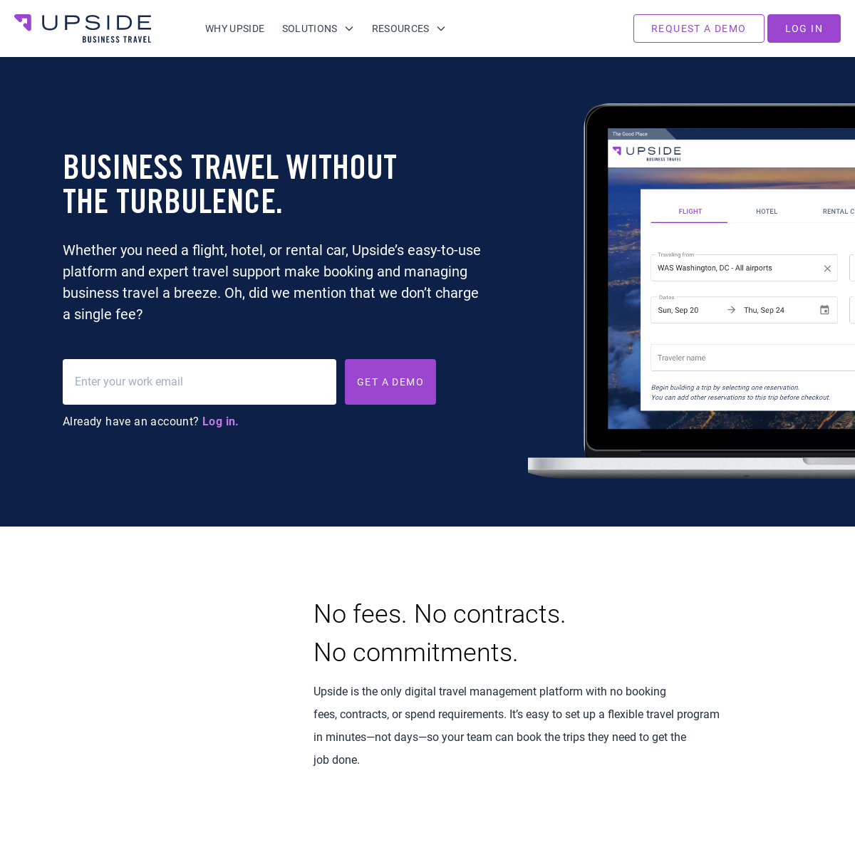 Manage Travel Without the Fees - Upside Business Travel