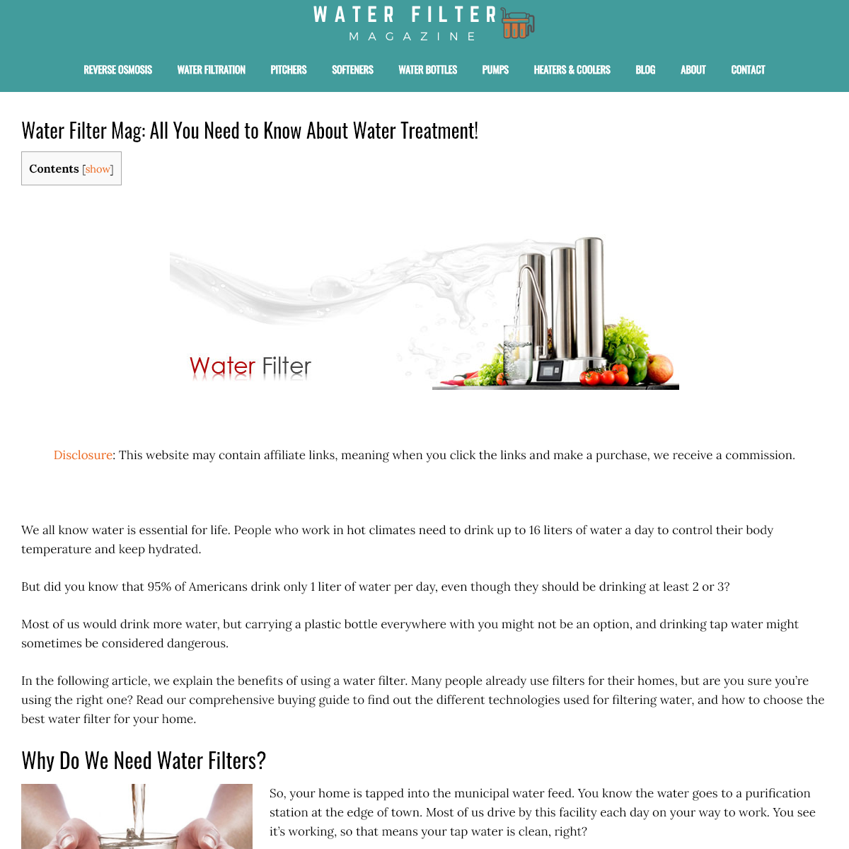 Water Filter Mag- All You Need to Know About Water Treatment!
