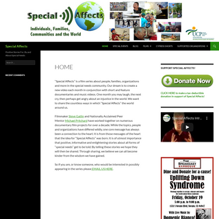 Special Affects - Positive Stories For, By and About Special Needs