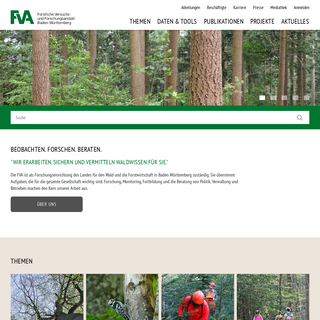 FVA - Forstliche Versuchs- und Forschungsanstalt BW– Forstliche Versuchs- und Forschungsanstalt BW