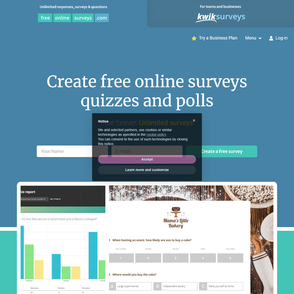 Create Free Online Surveys, Quizzes and Forms - FreeOnlineSurveys
