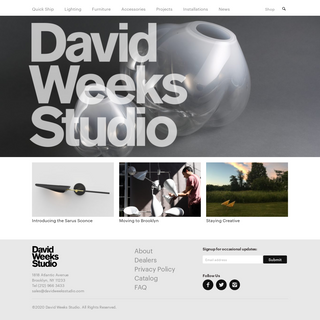 David Weeks Studio - Lighting, Furniture Toys & Accessories
