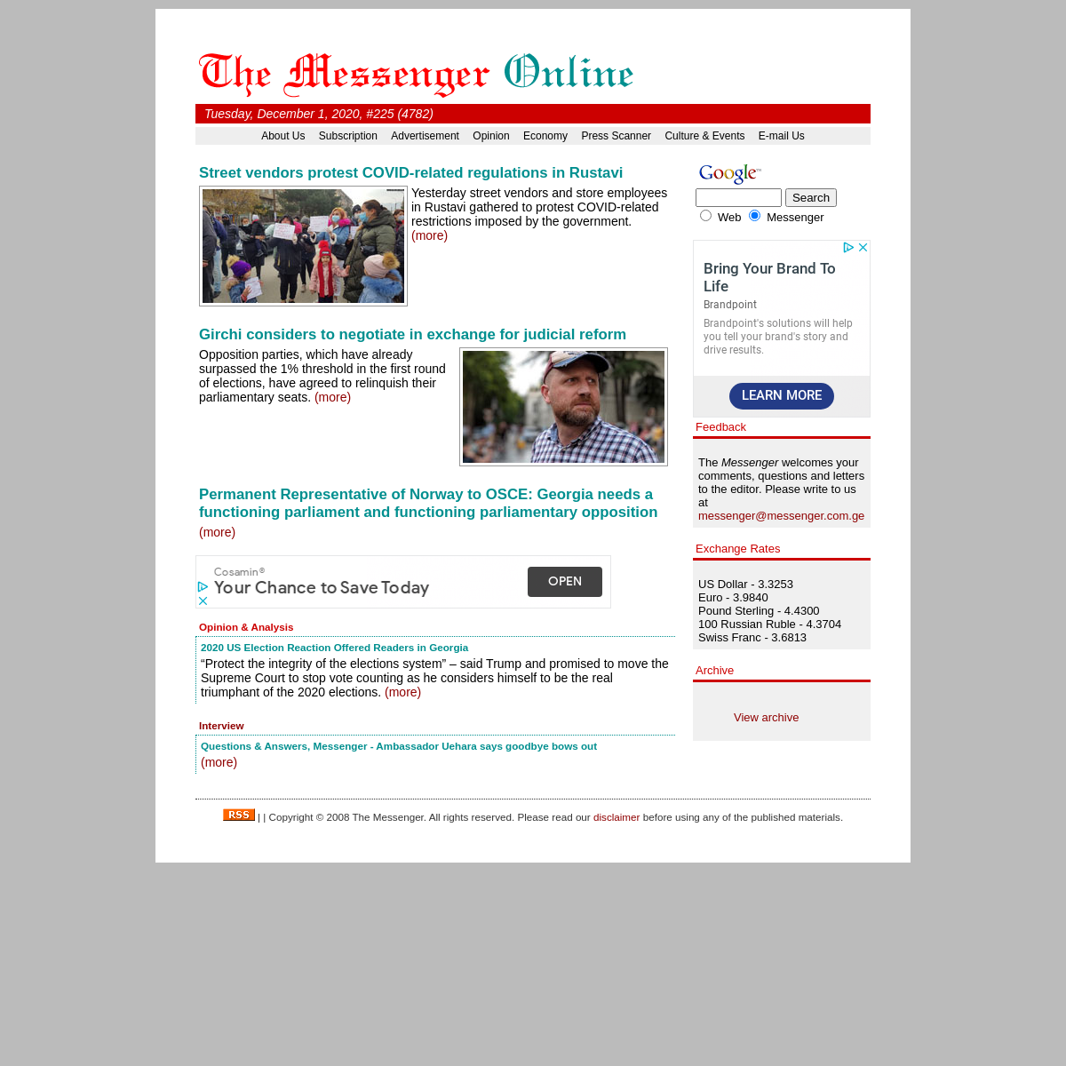 The Messenger - Georgia`s English Language Daily