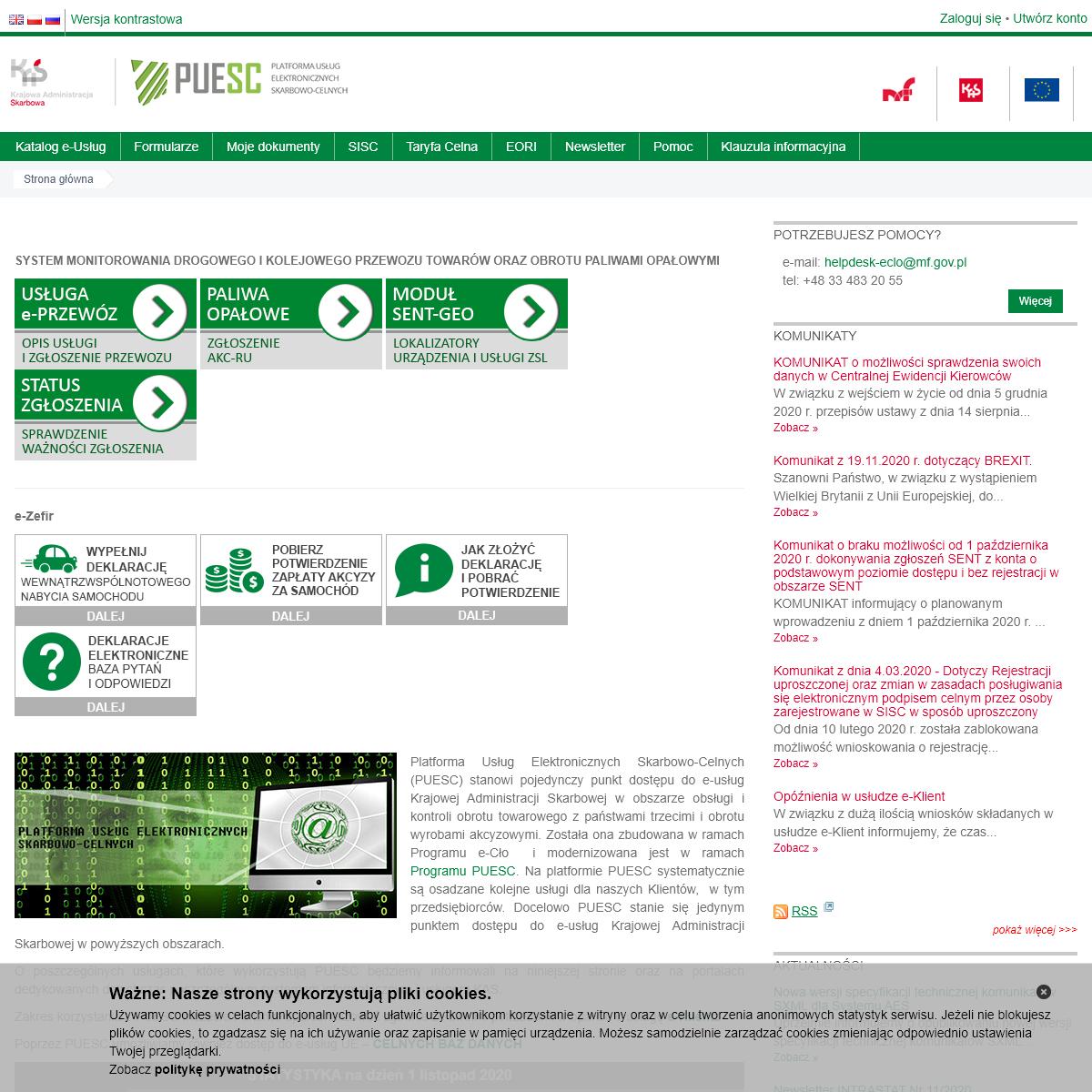Platforma Usług Elektronicznych Służby Celnej - Ministerstwo Finansów