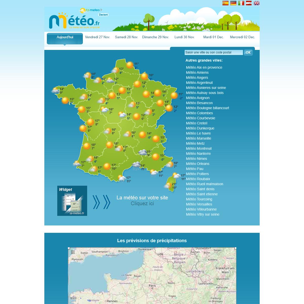 METEO - météo locale sur la France