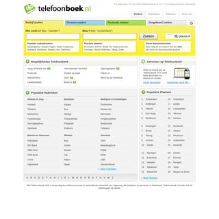 Telefoonboek - de Telefoongids van Nederland - Telefoonnummer