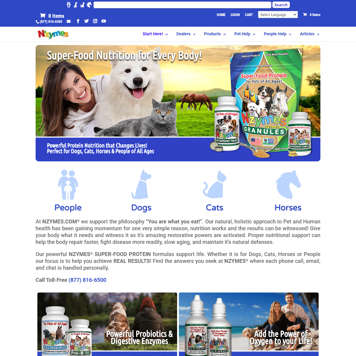Super-Food Supplements for People and Pets of All Ages - NZYMES.COM