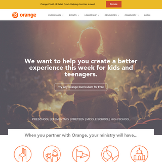 Orange Curriculum and Ministry Strategy for Kids and Students