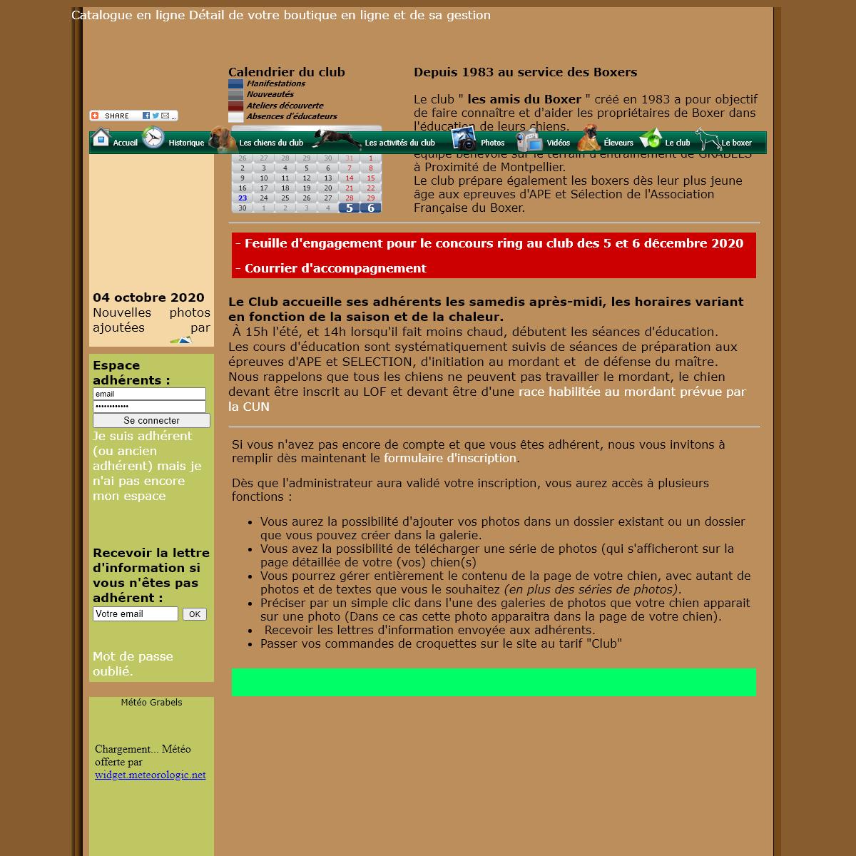 Les Amis du boxer - Education canine Grabels-Montpellier-Herault
