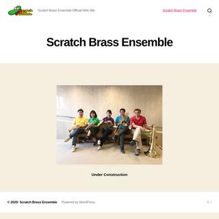 Scratch Brass Ensemble – Scratch Brass Ensemble Official Web Site