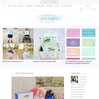 Sarah Halstead - A Lifestyle Blog
