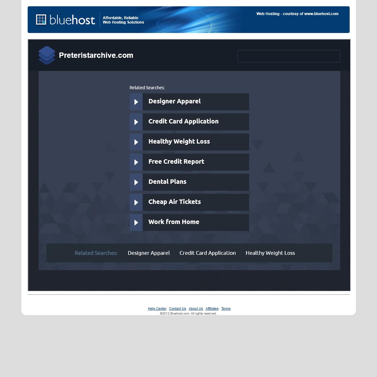 Welcome preteristarchive.com - BlueHost.com