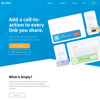 Sniply - Instantly Boost Your Conversion Rate