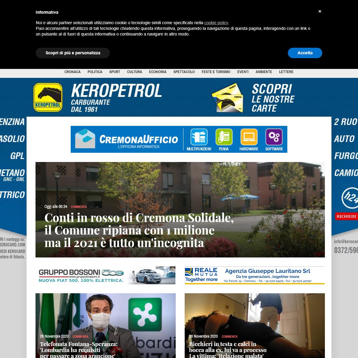 Cremonaoggi - Il primo quotidiano online di Cremona