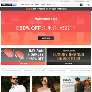 Sunglasses Shop - Designer Sunglasses - Including Oakley and Ray-Ban Sunglasses