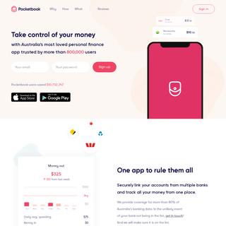 Pocketbook - Australia's most loved personal finance app