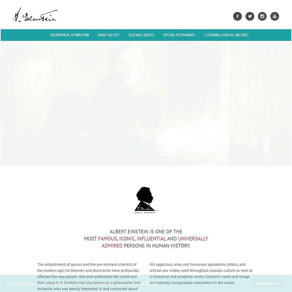 The Official Licensing Site of Albert Einstein