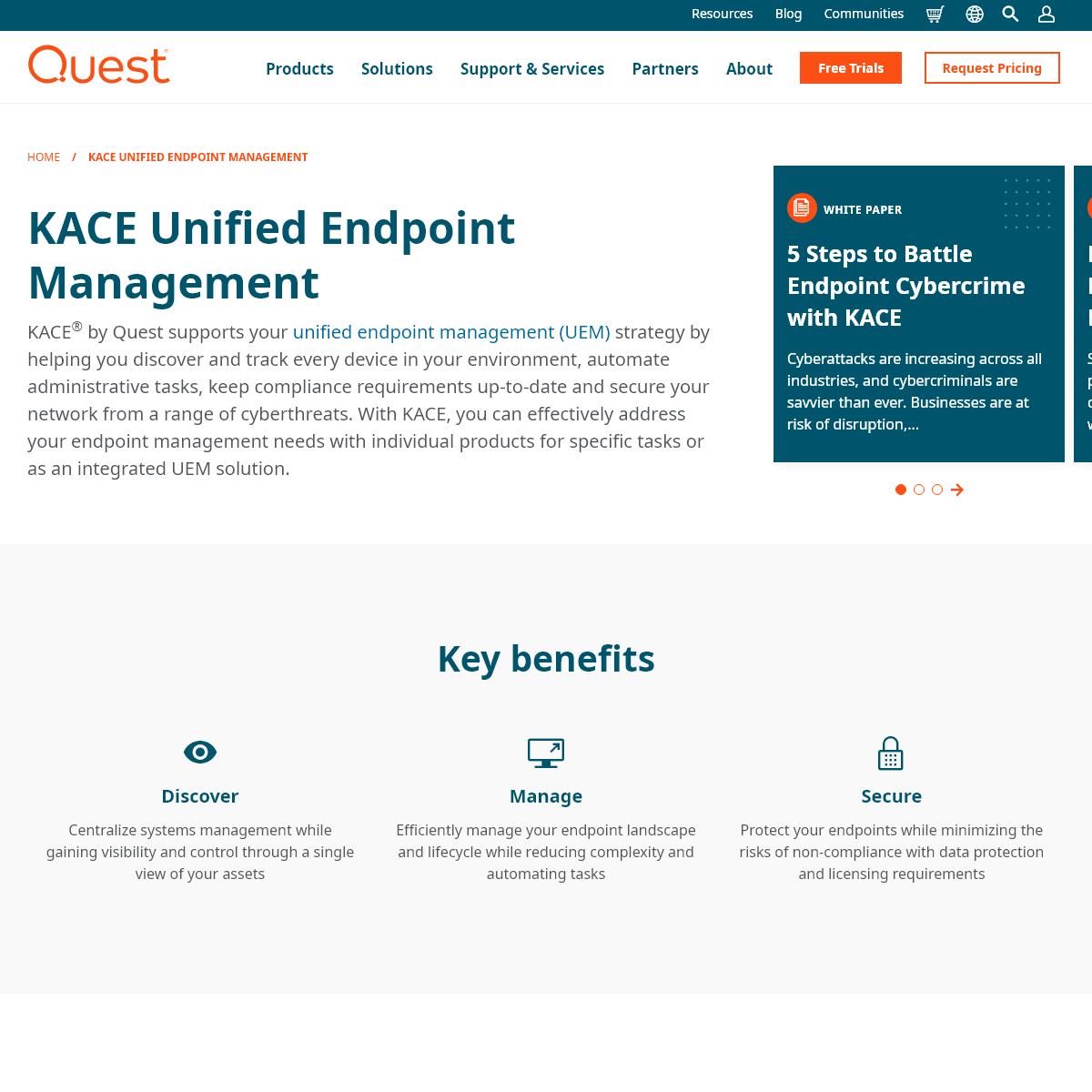 Endpoint Management - KACE by Quest