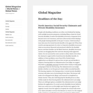 Global Magazine - World News - Global News – Global Magazine